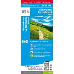 Carte IGN 3618OTR Gérardmer...