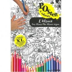 L'Alsace, poster à colorier
