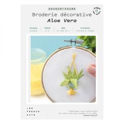 FK Broderie déco Aloe Vera