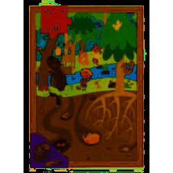 Puzzle bois 28p La forêt