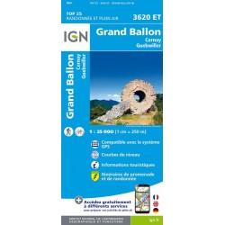 Carte IGN Grand Ballon 3620ET